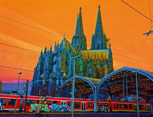Kölner Dom popchromatisch orange